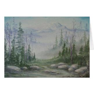 Blue Mountain Landscape Card