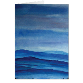 Blue mountain landscape Greeting Card