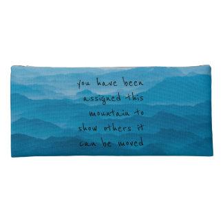 blue mountain nature landscape quote artsy pencil case
