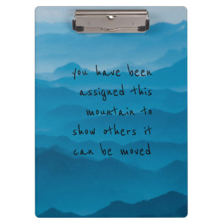 blue mountain nature landscape quotes clipboard