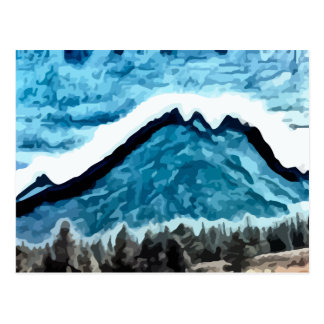 Blue Mountain  painting Postcard