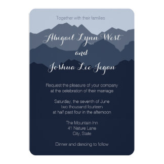 Blue Mountain Wedding Invitation