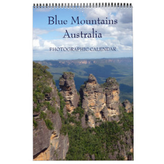 blue mountains australia wall calendar
