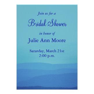 Blue Mountains Bridal Shower Custom Invites