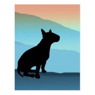 Blue Mountains Bull Terrier Post Card