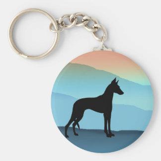 Blue Mountains Ibizan Hound Basic Round Button Keychain