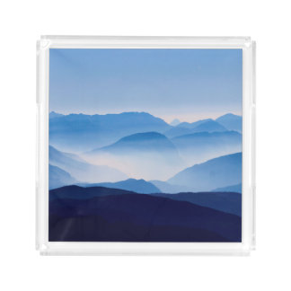 Blue Mountains Landscape Scene Acrylic Tray