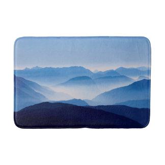 Blue Mountains Meditative Relaxing Landscape Scene Bath Mat
