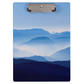 Blue Mountains Meditative Relaxing Landscape Scene Clipboards