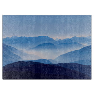 Blue Mountains Meditative Relaxing Landscape Scene Cutting Board