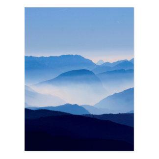 Blue Mountains Meditative Relaxing Landscape Scene Postcard