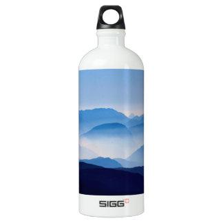 Blue Mountains Meditative Relaxing Landscape Scene Water Bottle