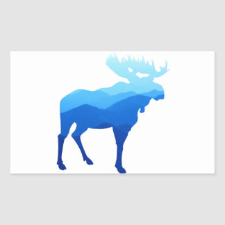 Blue Mountains Moose Silhouette