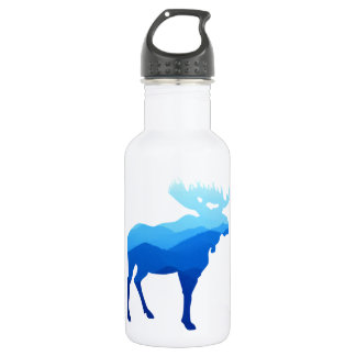 Blue Mountains Moose Silhouette 532 Ml Water Bottle