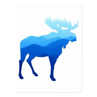 Blue Mountains Moose Silhouette Postcard