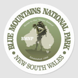 Blue Mountains NP Classic Round Sticker
