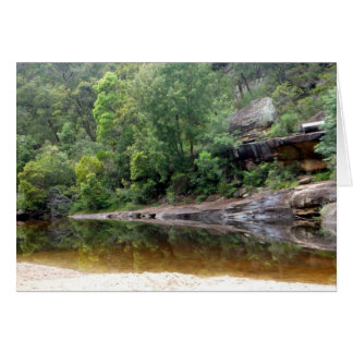 blue mountains reflect greeting card