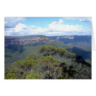 blue mountains ridge view cards