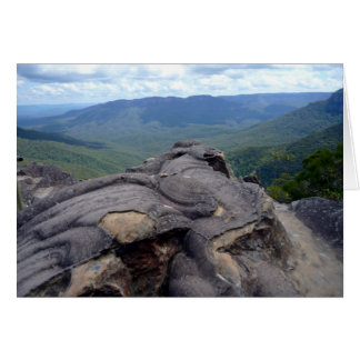 blue mountains scenery greeting card