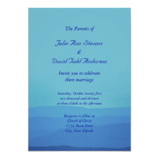 Blue Mountains Wedding 5x7 Paper Invitation Card