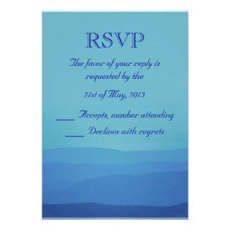 Blue Mountains Wedding RSVP Invite