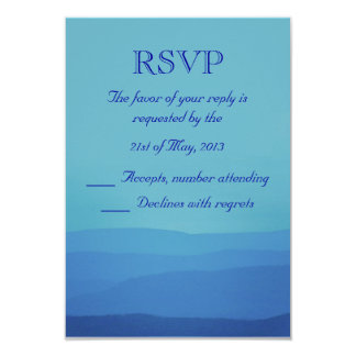 Blue Mountains Wedding RSVP 3.5x5 Paper Invitation Card