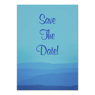 Blue Mountains Wedding Save The Date 5x7 Paper Invitation Card