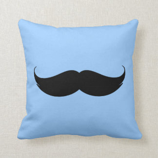 Blue Moustache Cushion