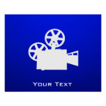 Blue Movie Camera Poster