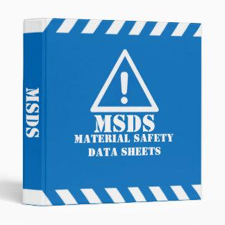Blue MSDS Binders