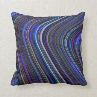 Blue Multi Striped Abstract Pillow