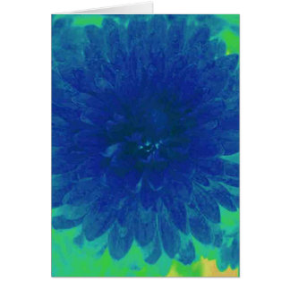 Blue Mum Greeting Card