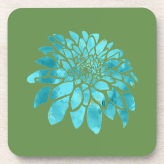 Blue Mum on Green Coaster