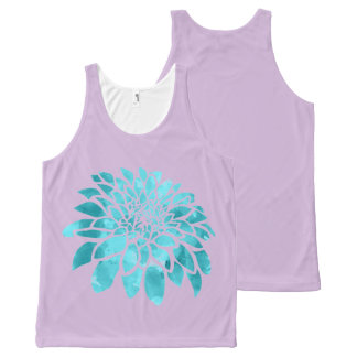 Blue Mum on Lavender All-Over-Print Tank Top