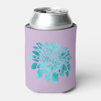 Blue Mum on Lavender Can Cooler