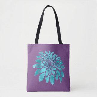 Blue Mum on Purple Tote Bag