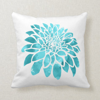 Blue Mum on White Throw Pillow
