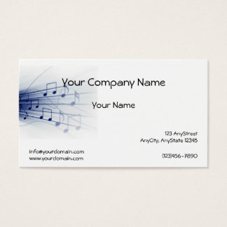 Blue Music Explosion on White Background Business Card