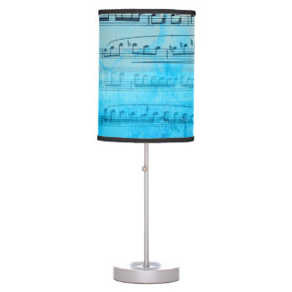 Blue Music notes Watercolor Lamp