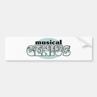 Blue Musical Genius Bumper Sticker