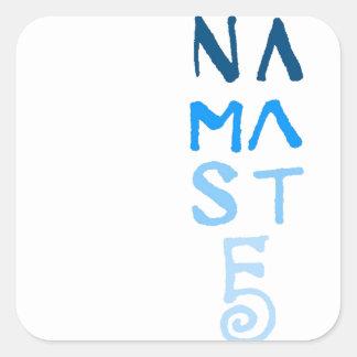 Blue Namaste Word Square Sticker
