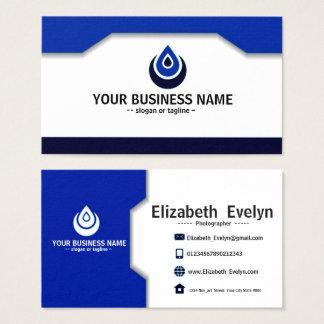 blue name card elegant & simple 003