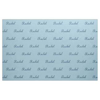 Blue Name Fabric