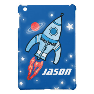 Blue named space rocket ipad mini iPad mini case