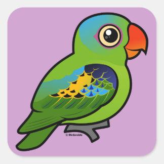 Blue-naped Parrot Square Sticker