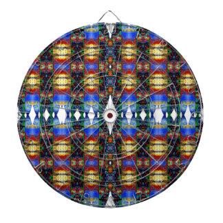 Blue Native American Pattern. Aztec Design Dart Boards