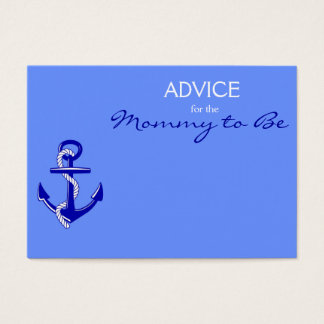 Blue Nautical Advice for the Mommy to Be Cards