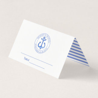 Blue Nautical Anchor | Wedding Table / Place Card