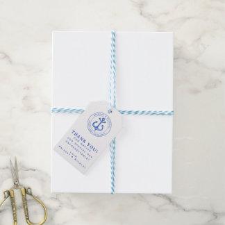 Blue Nautical Anchor | Wedding Thank You Gift Tags