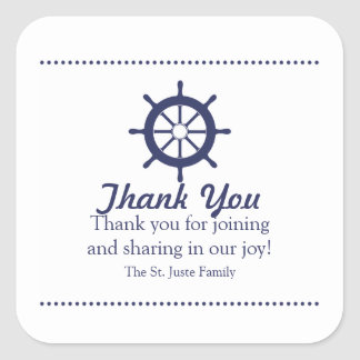 blue nautical BABY SHOWER party favor label 2